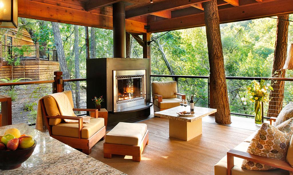 calistoga ranch resort meadow spa lodge patio