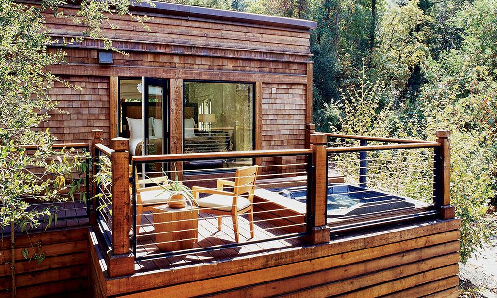 calistoga ranch resort oak creek lodge balcony