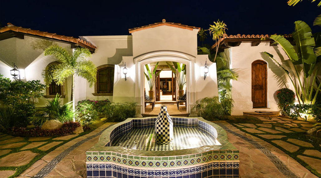 cabo villa rental fountain outdoors