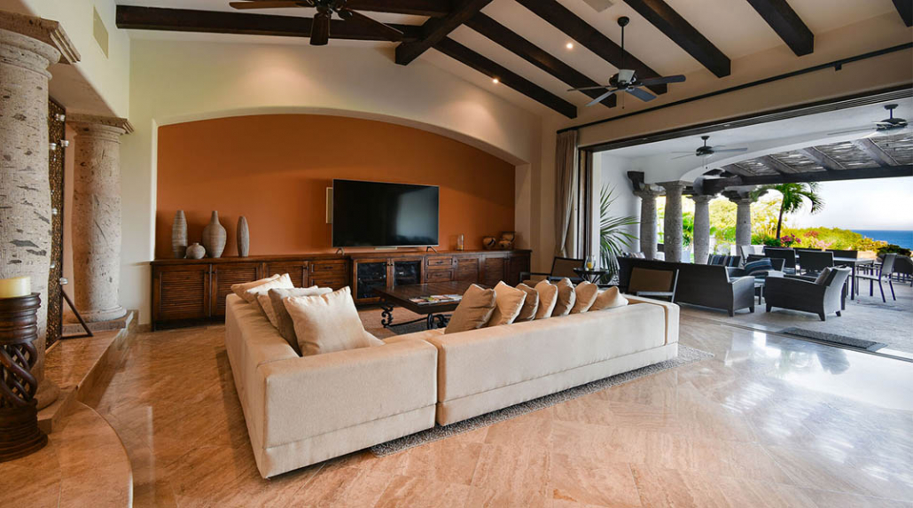 cabo villa rental family room