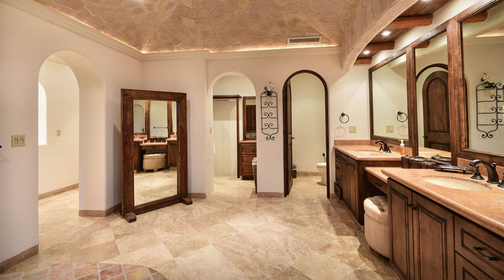cabo villa rental master bathroom