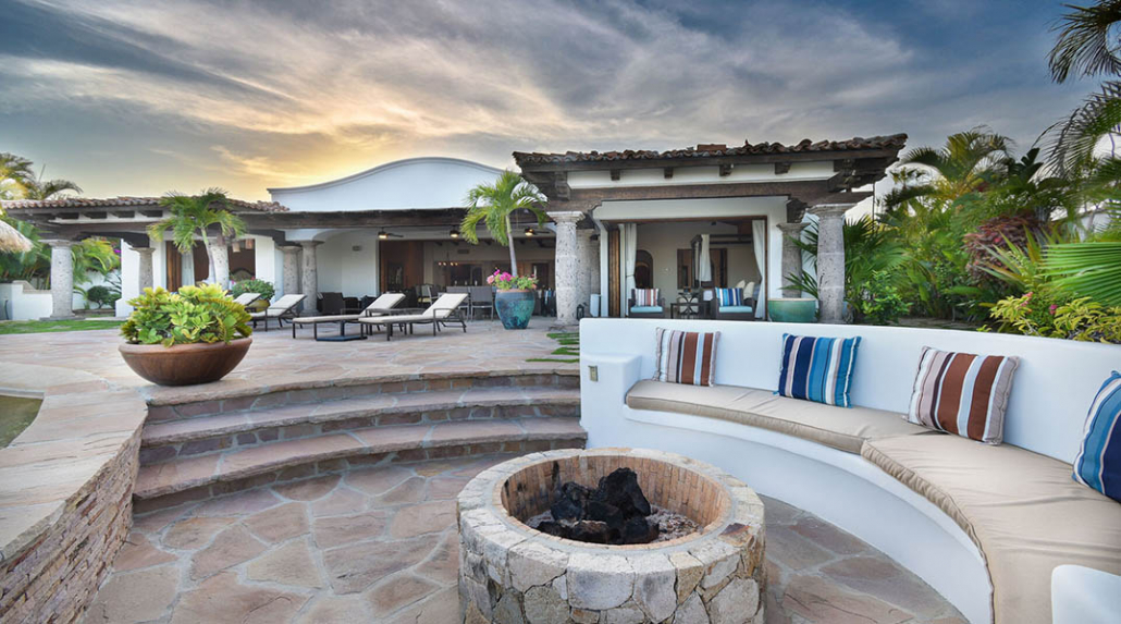 cabo villa rental firepit seating