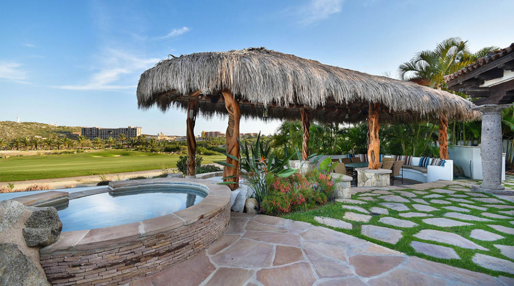 cabo villa rental jacuzzi spa over golf course
