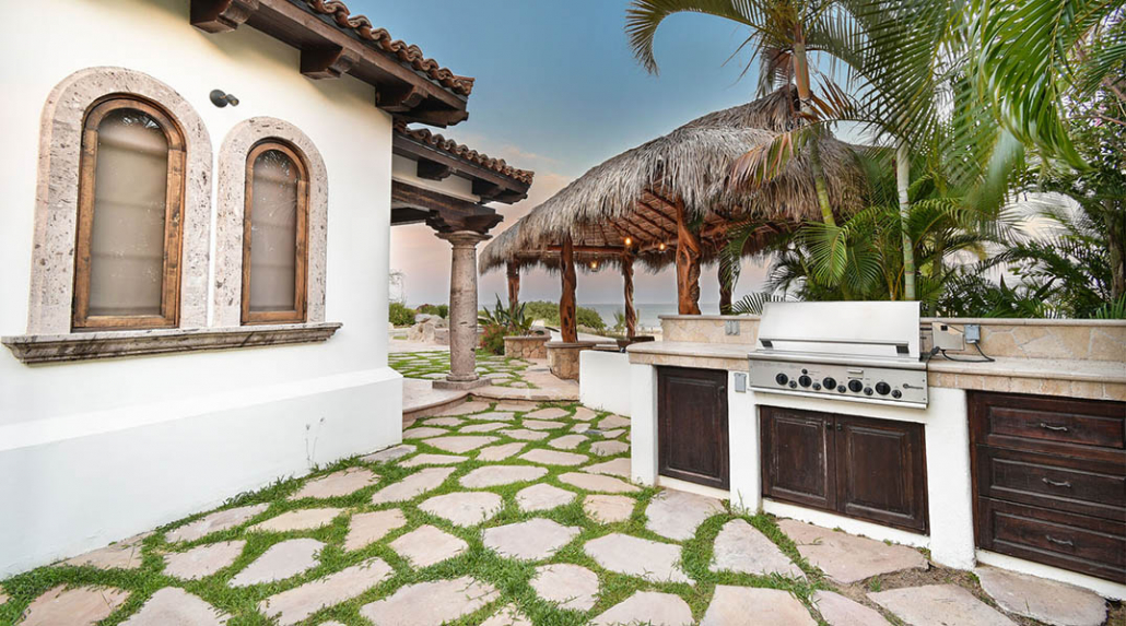 cabo villa rental outdoor bbq