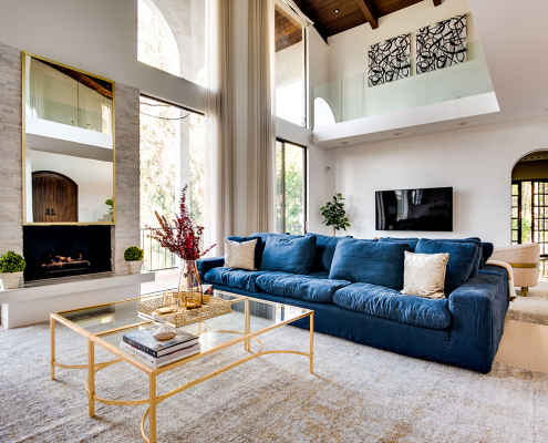 hollywood hills villa rental living room