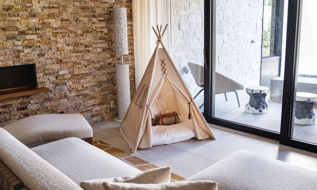 earth suite deluxe tipi at the lodge at blue sky
