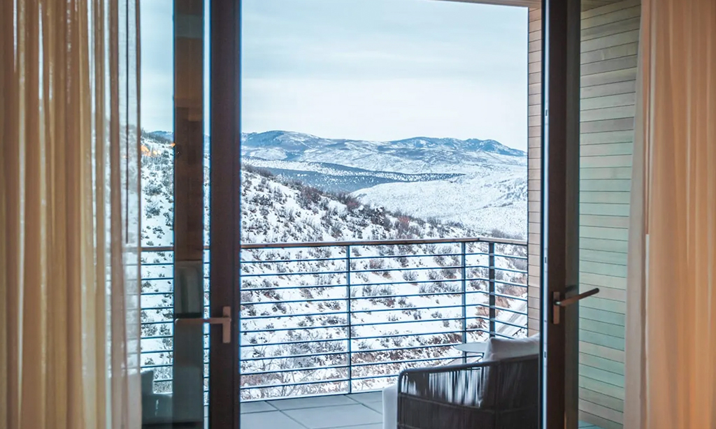 two bedroom signature suite patio at the lodge at blue sky