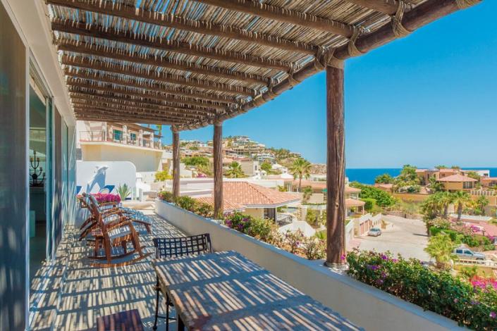 cabo villa rental patio view