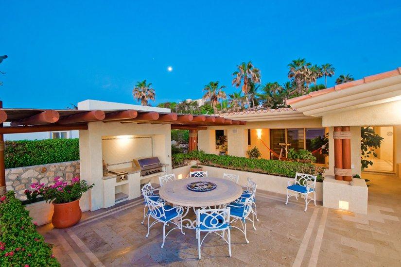 cabo villa rental outdoor patio