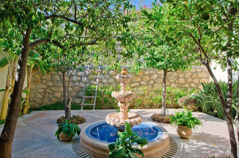 cabo villa rental fountain
