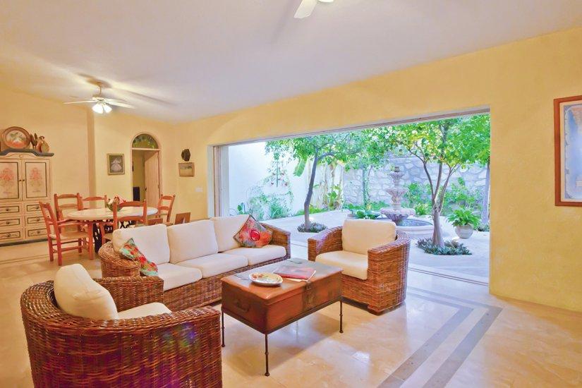 cabo villa rental living room