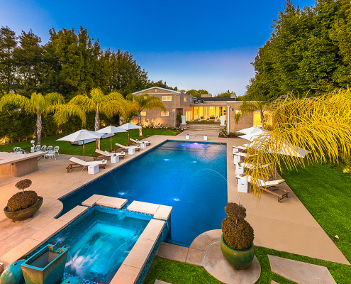 beverly hills villa rental pool