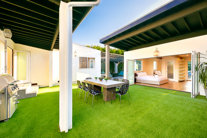 west hollywood villa rental patio