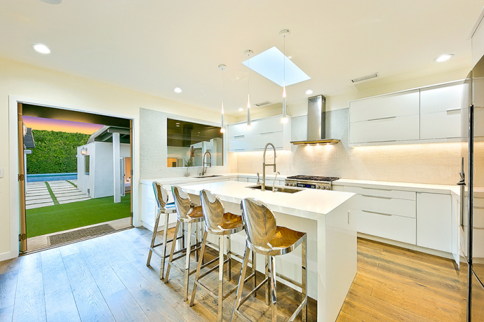 west hollywood villa rental kitchen