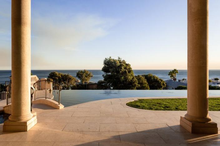 malibu villa rental pool view
