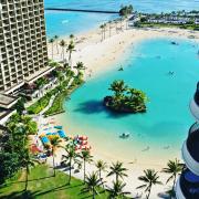 hotel by the beach lagoon