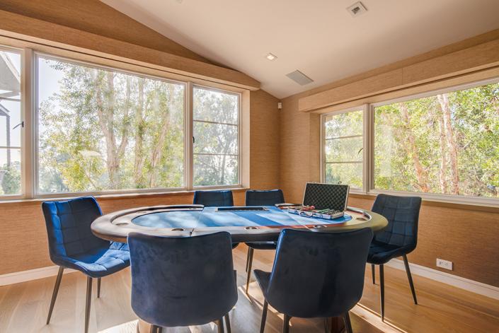 beverly hills villa rental poker table