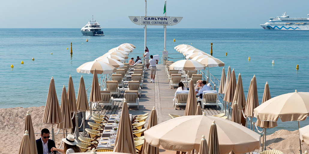 intercontinental carlton cannes dock with dining