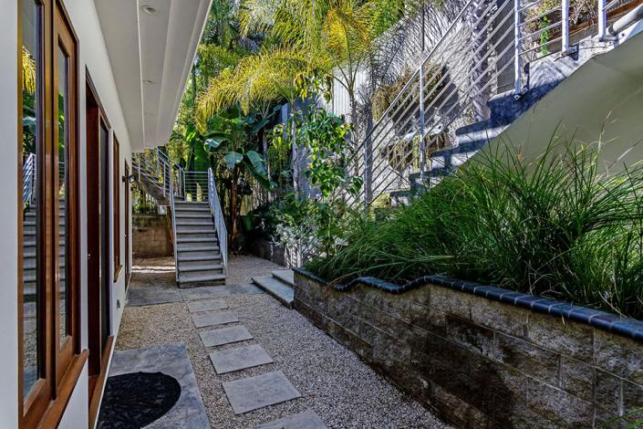 hollywood hills villa rental side entrance