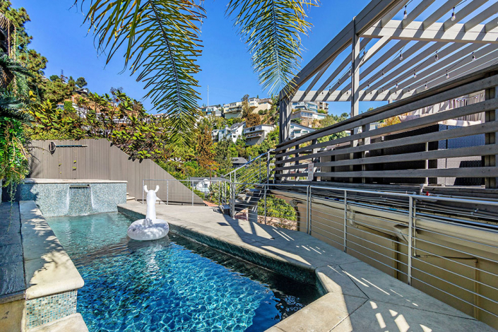 hollywood hills villa rental rooftop pool