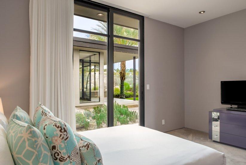 palm springs villa rental bedroom view