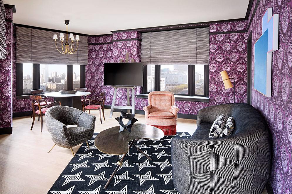 proper san francisco premium suite purple walls
