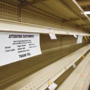 coronavirus grocery store sign