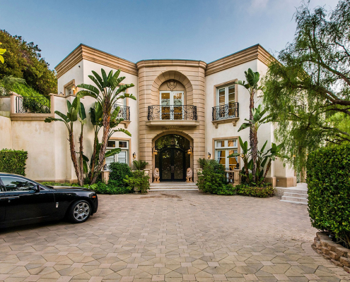 luxury villa rental beverly hills entry