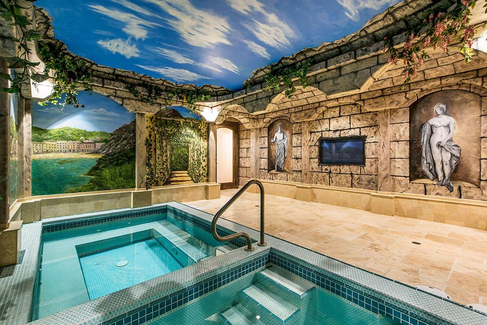 beverly hills villa rental indoor pool