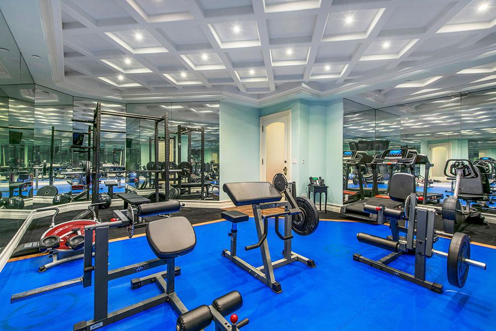 beverly hills villa rental gym