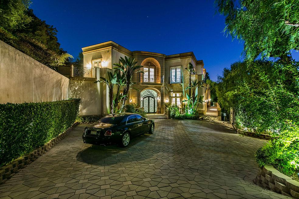 beverly hills villa rental rolls royce