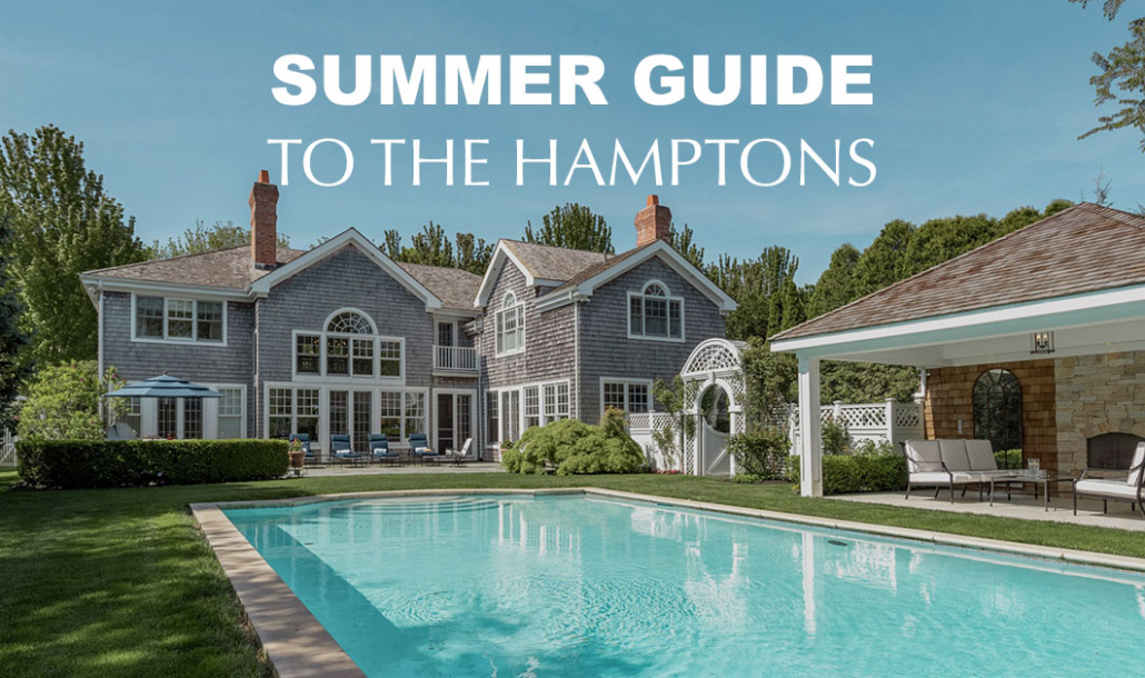 hamptons house summer by the pool