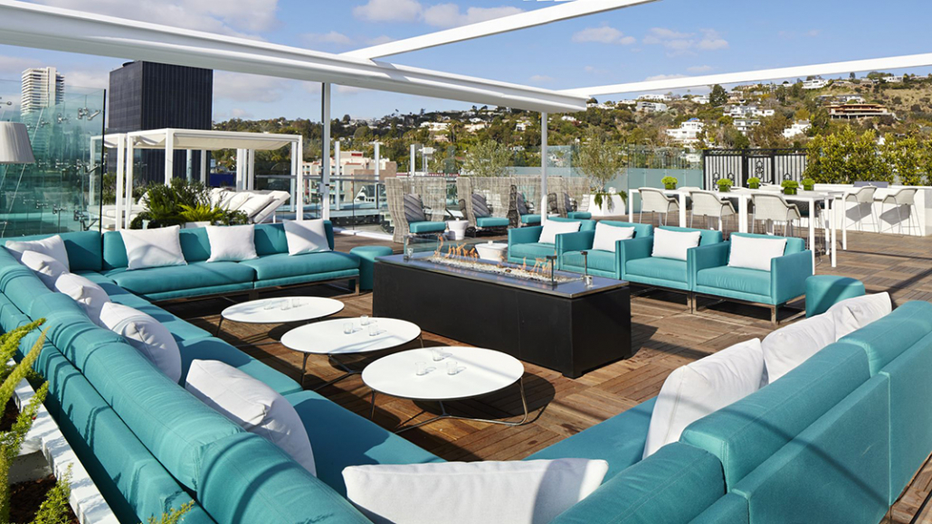 the london west hollywood penthouse rooftop patio