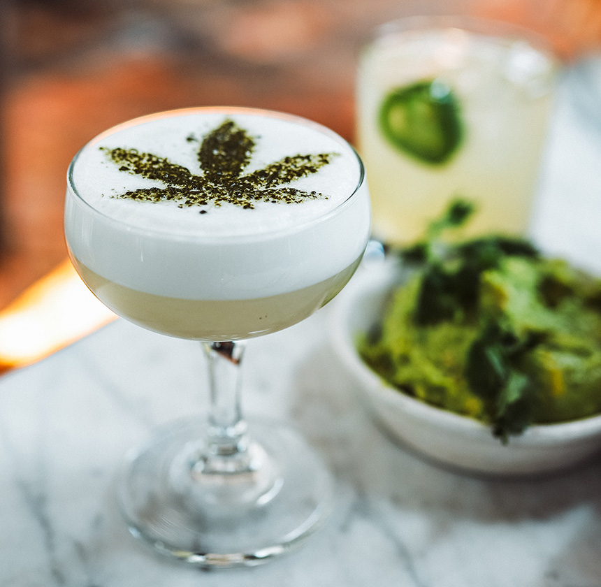 cannabis cocktail America's first cannabis cafe