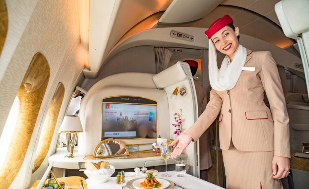 emirates first class flight attendant