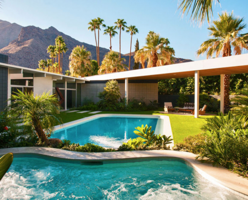 modern oasis palm springs rental
