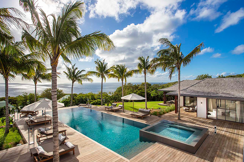 blanc bleau villa caribbean st barths villa rentals