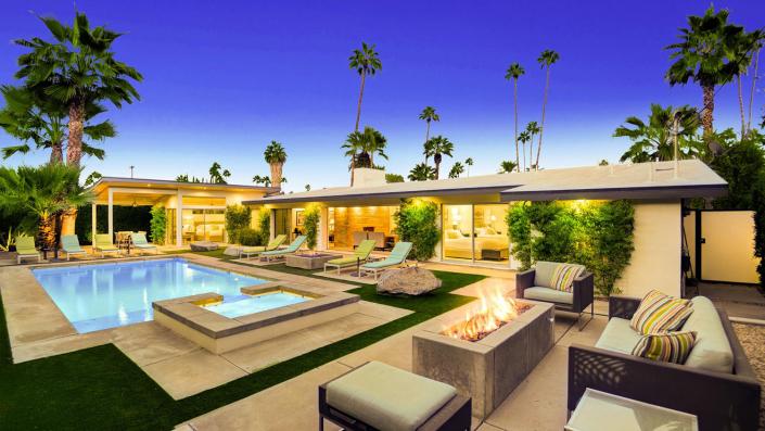 champagne dream palm springs villa rental