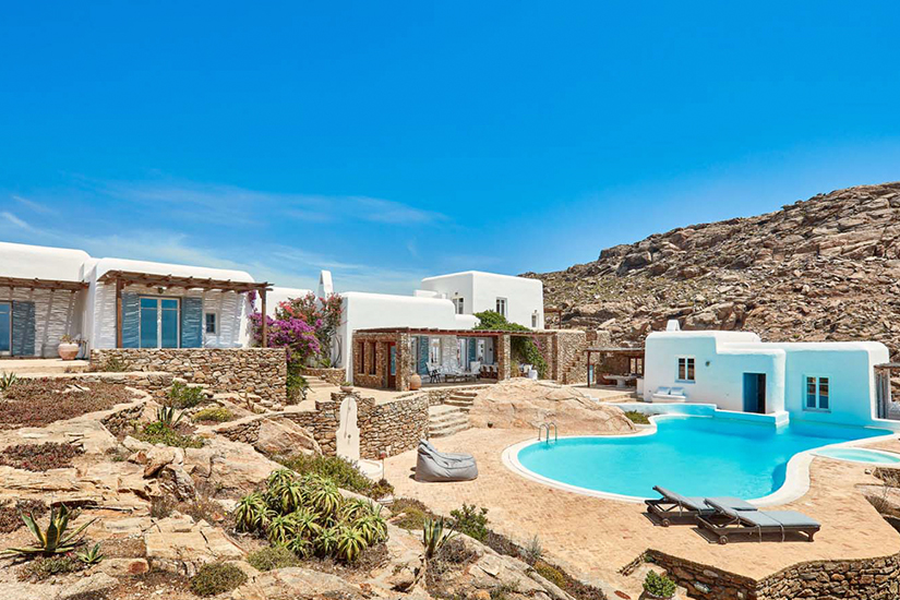 helios retreat mykonos greece villa rentals