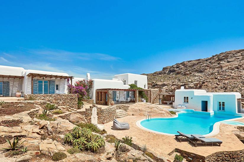 helios retreat mykonos greece villa rentals
