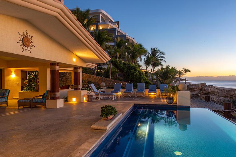 Vista de la Playa costa brava cabo mexico villa rentals