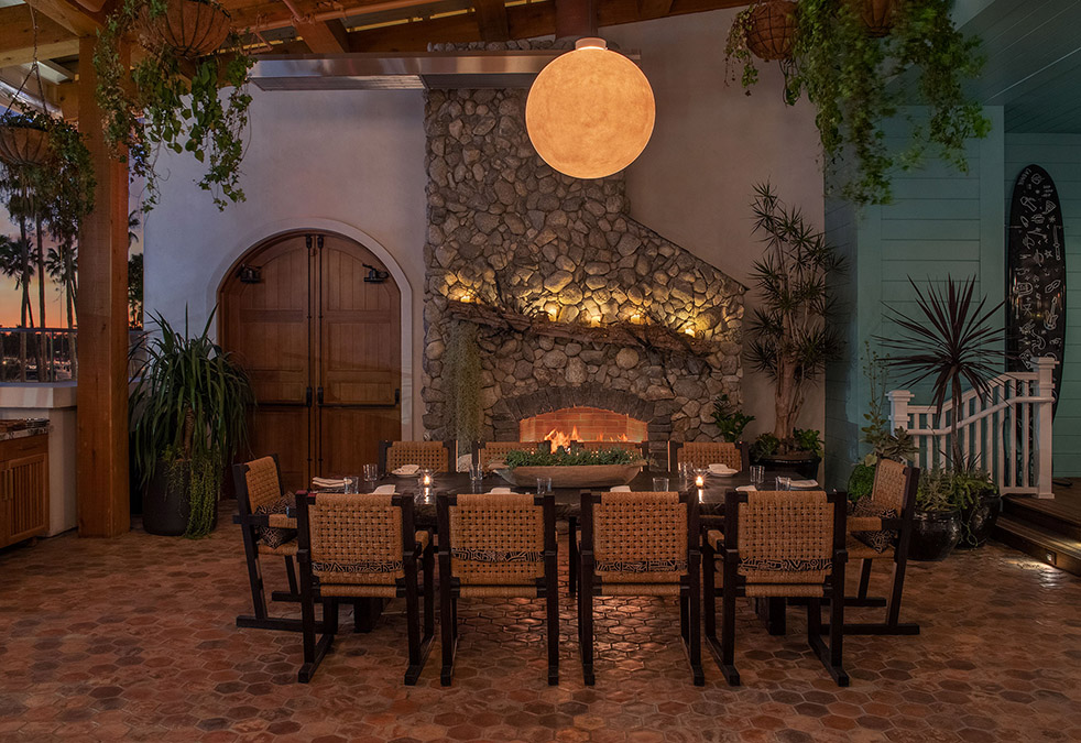 the bungalow kitchen belmont shore long beach fireplace patio