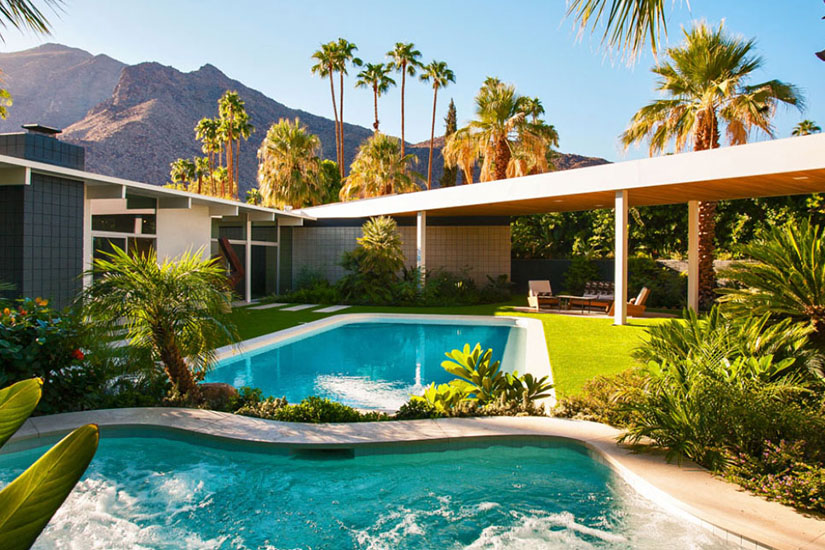 modern oasis palm springs villa rental