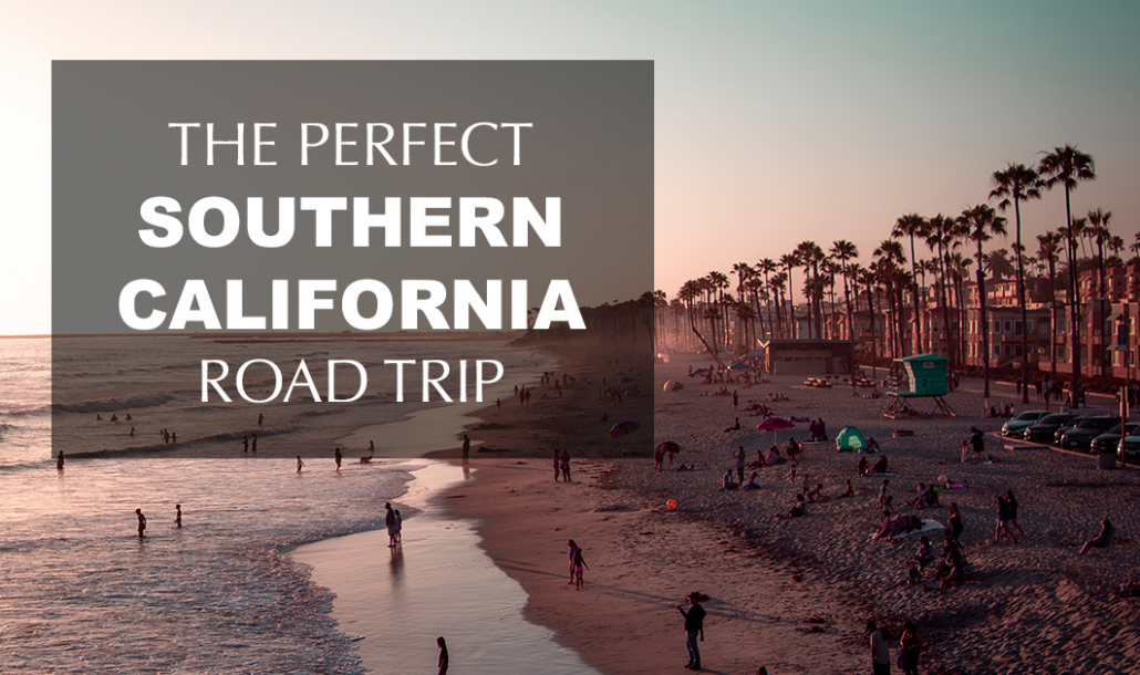 Southern California beaches during sunset summer road trip