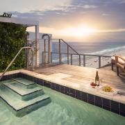 w south beach penthouse 3 balcony pool sunset