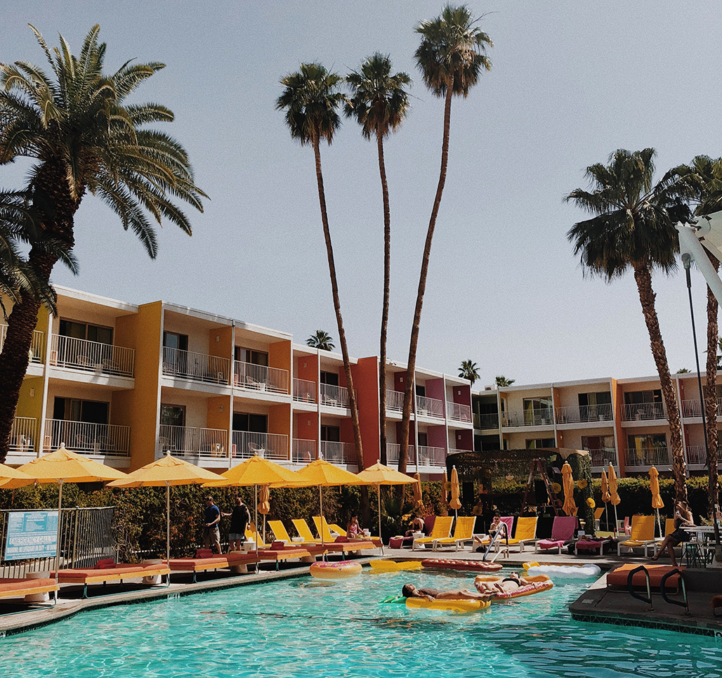 best hotels for a girls trip palm springs saguaro hotel pool