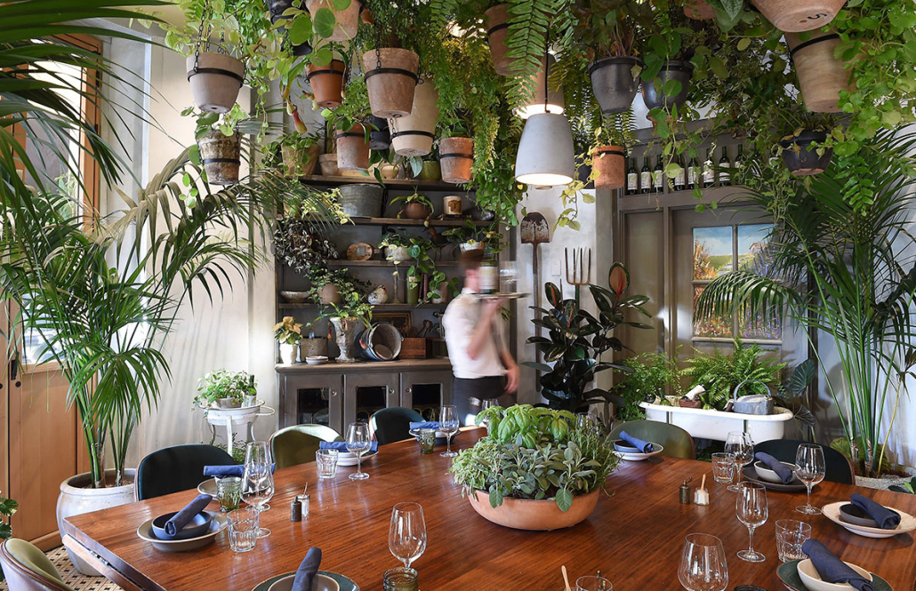 FIG restaurant private dining Potting Shed at the Fairmont Miramar Hotel in Santa Monica