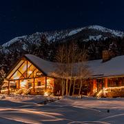 lone mountain ranch big sky montana snow at night